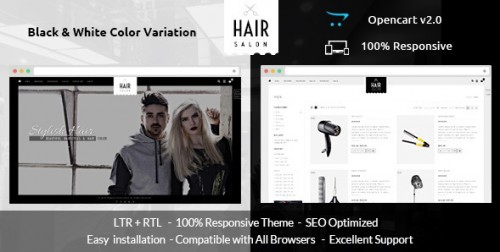 Hair Salon - Opencart Responsive Theme