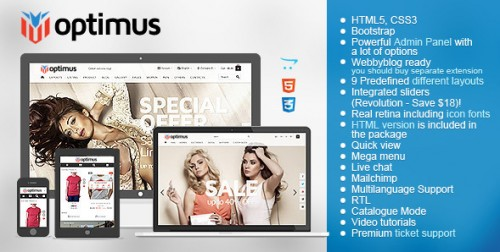Optimus - Flexible Responsive OpenCart Theme