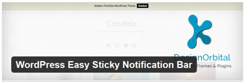 WordPress Easy Sticky Notification Bar