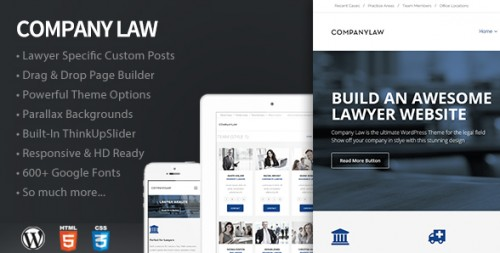 CompanyLaw - Lawyer & Attorney WordPress Theme