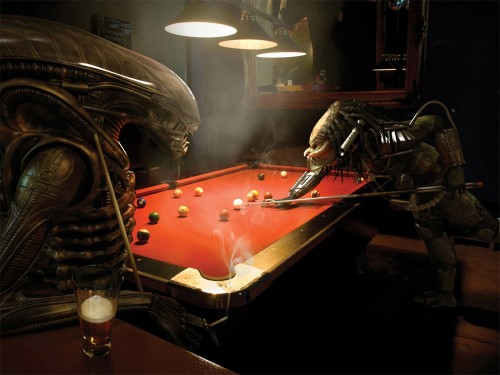 Alien Playing Billiard Game