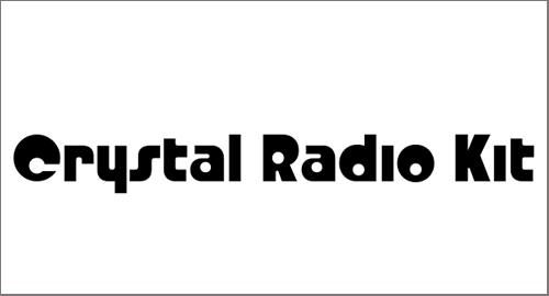 Crystal Radio Kit Font