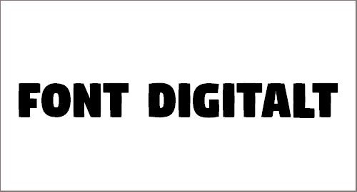 Digitalt Font
