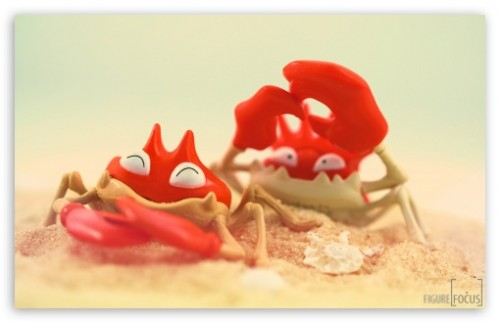 Funny Crabs Wallpaper