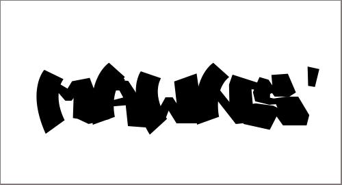 MAWNS' Graffiti Filled Font