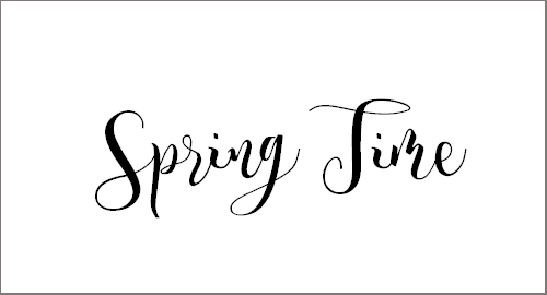 Spring Time Personal Use Font