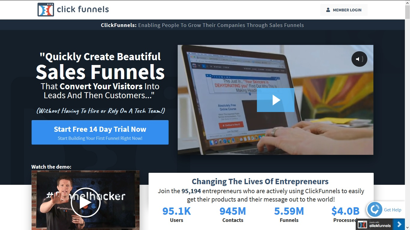 ClickFunnels Free Trial - Start 14 Days ClickFunnels Trial Now